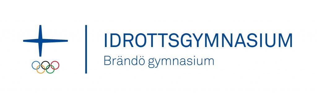 Officiellt Idrottsgymnasium logo med Olympiska logo