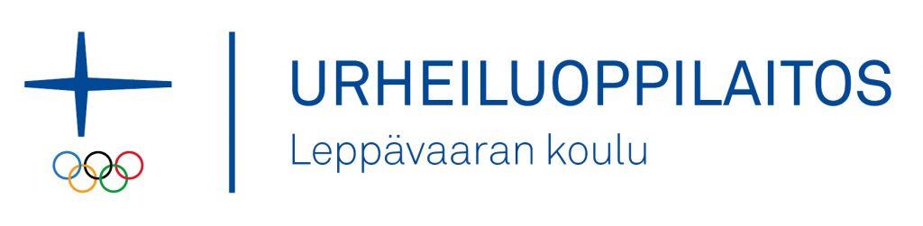 Leppävaaran koulun Urheiluoppilaitos-logo, jossa on Olympiakomitean logo sisällytettynä