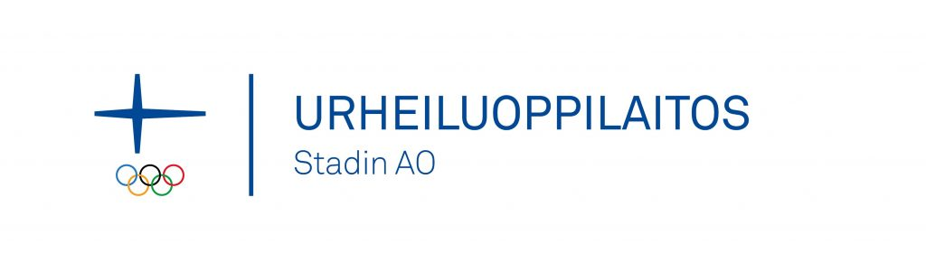 Stadin ammatti- ja aikuisopiston virallinen Urheiluoppilaitos-logo Olympiakomitean virallisella tunnuksella